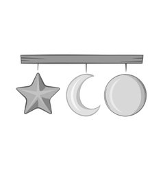 Hanging toys icon black monochrome style vector image