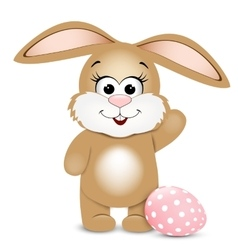 Happy Easter Easter bunnie and egg vector image