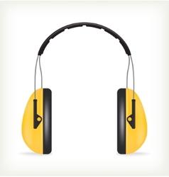 Headphones for ear protection vector