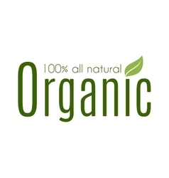 Healthy organic natural fresh logo vector