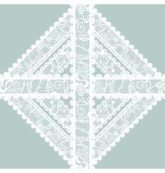 Lacy vintage applique vector image