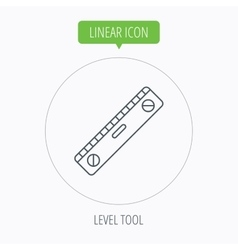 Level tool icon horizontal measurement sign vector