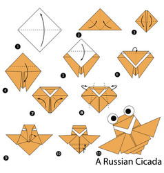 Make origami a russian cicada vector