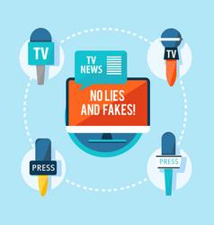 Mass media correspondent flat infographic concept vector