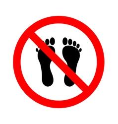 No bare feet vector