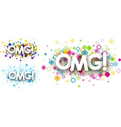 Omg colour backgrounds vector