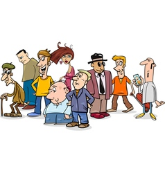 people group comic vector image vector image