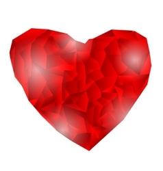 Polygonal heart on white vector