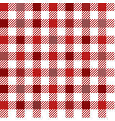 red gingham mix seamless pattern vector image
