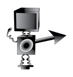 Robot TV vector image