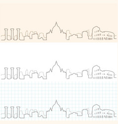 Rome hand drawn skyline vector