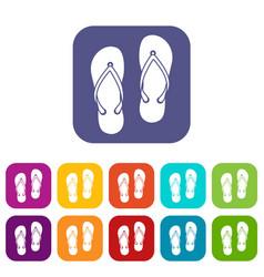 Slates icons set vector