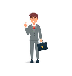 smiling businessman in formal clothes standing and vector image vector image