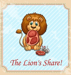 The lions share idiom vector image vector image