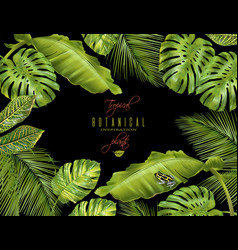 tropical horizontal banner vector image vector image