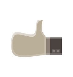 up icon thumbs like finger hand ok symbol sign vector image