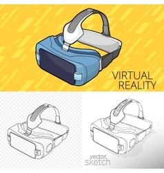Virtual reality vr vector