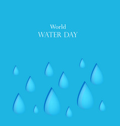 world water day background vector image