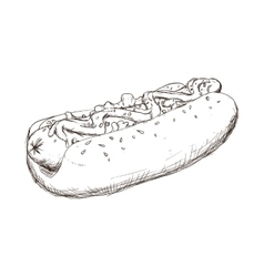 Hot dog icon fast food design graphic vector