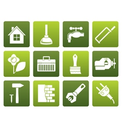 Flat construction and do it yourself icons vector