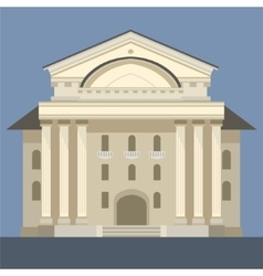 Exterior Of Classic Theatre Building vector image