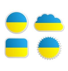 Ukraine flag labels vector image