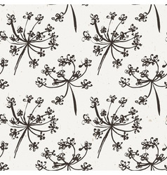 Seamless pattern with wet dandelion or milfoil vector