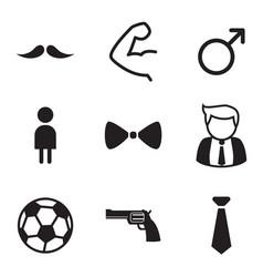 gentleman icons symbol set vector image