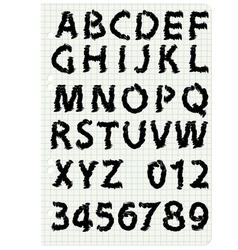 Hand drawing alphabet set in black ink vector image