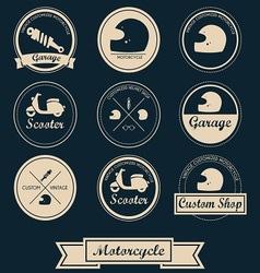 Motorcycle Shop Label Design vector image