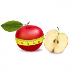 Apple with meter vector