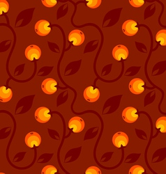 apple pattern red vector image