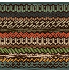 Colorful ethnic seamless pattern vector image