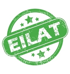 Eilat green stamp vector