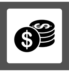 Dollar coins icon vector
