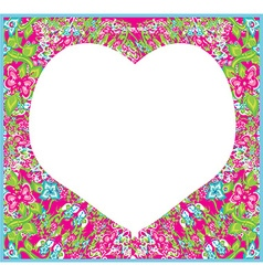 Floral ornament and heart in the middle vector