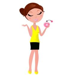 perfume girl vector image