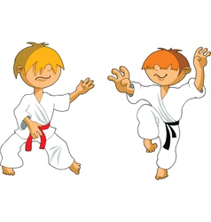Cartoon karate vector