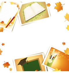 Education frame vector