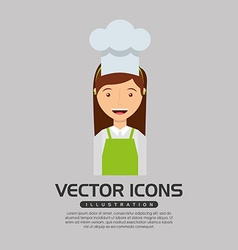 Professional chef design vector