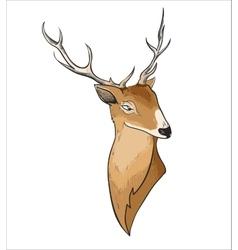 Hand drawn cartoon deer header vector
