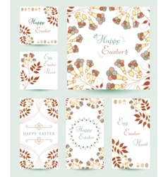 Collection easter cards vector