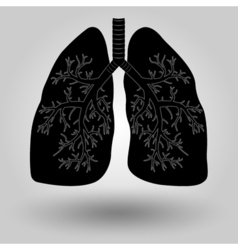 Human lung icon vector