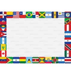 American countries flag frame vector image