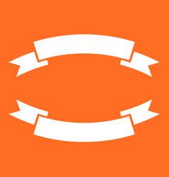 Badge icon ribbon in flat style on orange vector