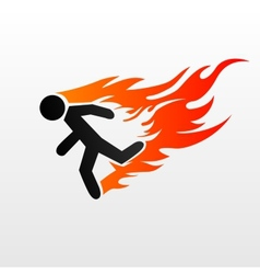 burning man vector image vector image