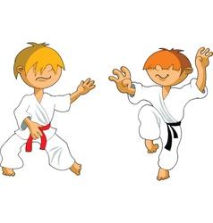 cartoon karate vector image vector image