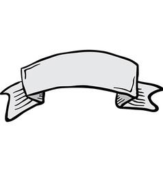 Cartoon tattoo scroll banner vector