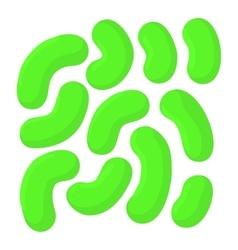 Cell virus icon cartoon style vector