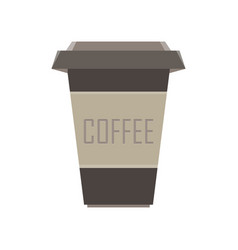 coffee cup icon mug drink cafe hot isolated vector image vector image
